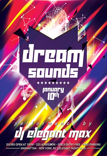 Dream Sounds – Flyer PSD Template