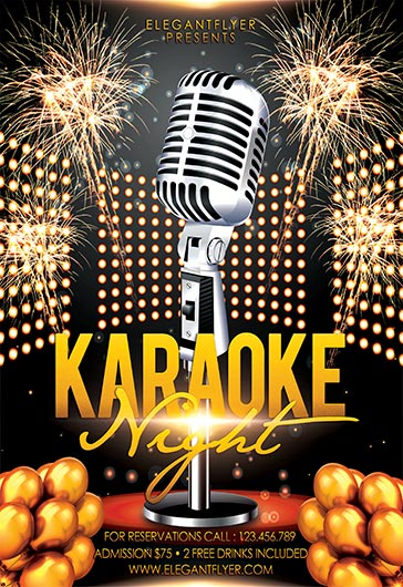 Karaoke Flyer in PSD