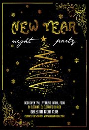New Year Night – Flyer PSD Template + Facebook Cover