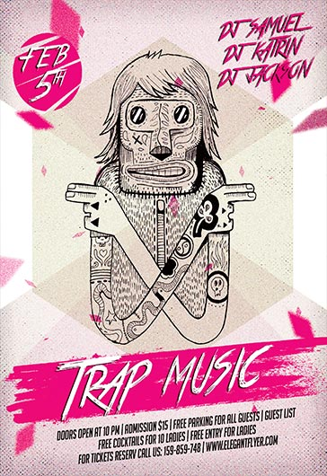 Flyer For Trap Music Artists