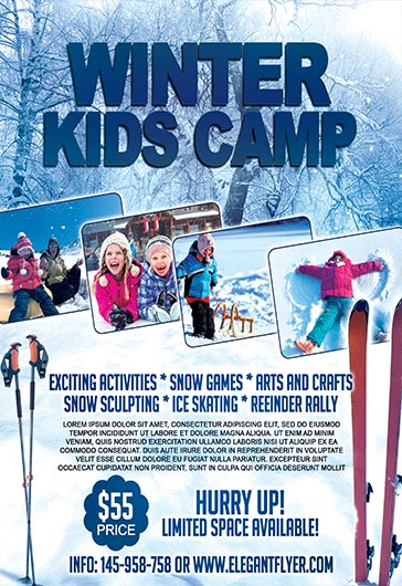 Winter Kids Camp  Flyer Psd Template  By Elegantflyer