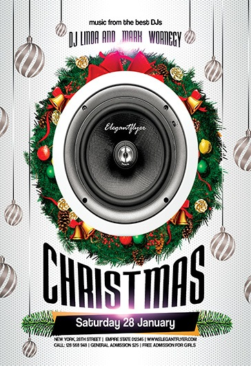 Christmas Party – Free Flyer PSD Template + Facebook Cover