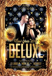 Deluxe New Year 2017 – Flyer PSD Template + Facebook Cover