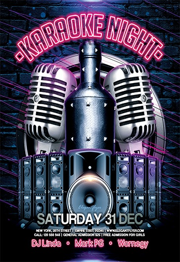 karaoke night v02  u2013 flyer psd template  u2013 by elegantflyer