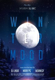 Winter Mood V02 – Flyer PSD Template + Facebook Cover