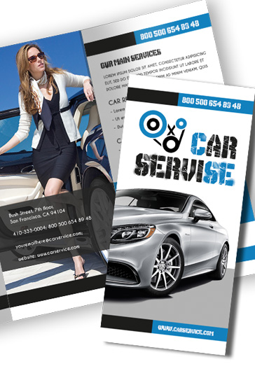 Car Services Tri-Fold PSD Template