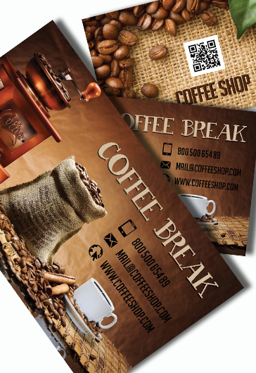 Coffee Shop  Premium Business Card Psd Template  By Elegantflyer