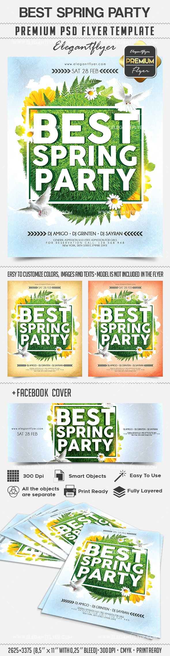 Best Spring Party – Flyer PSD Template