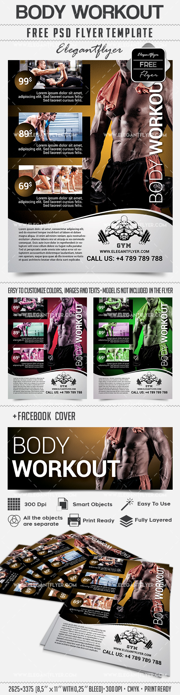 Body Workout – Flyer PSD Template