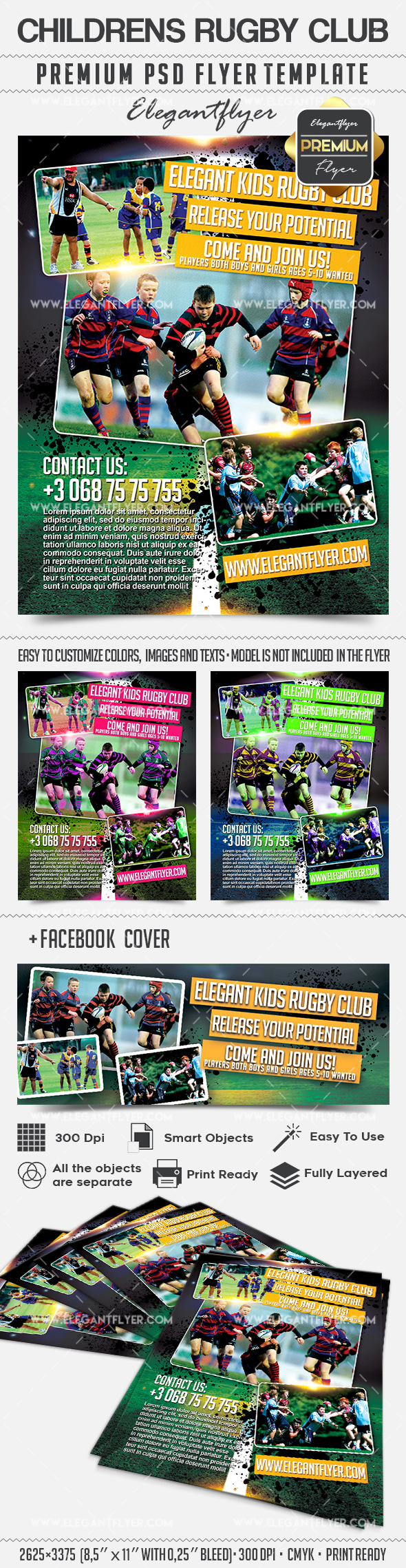 Childrens Rugby Club – Flyer PSD Template