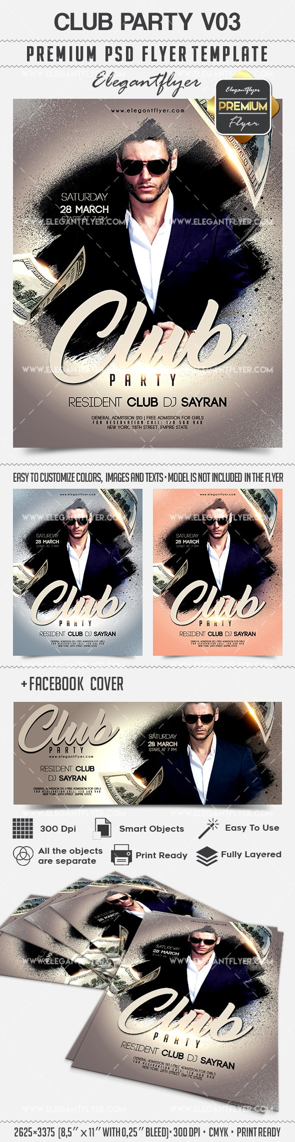 Club Party V03 – Flyer PSD Template
