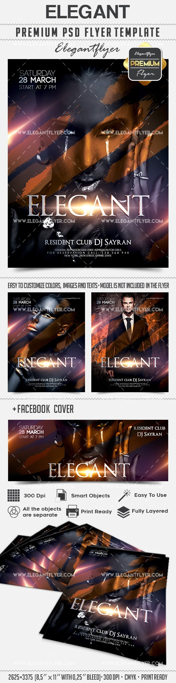 Elegant – Flyer PSD Template