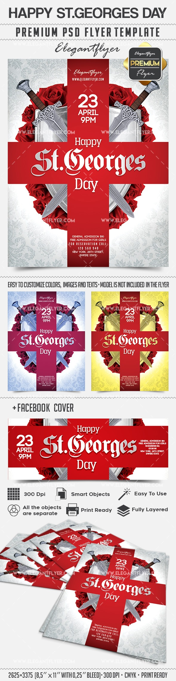 Happy St.Georges Day – Flyer PSD Template