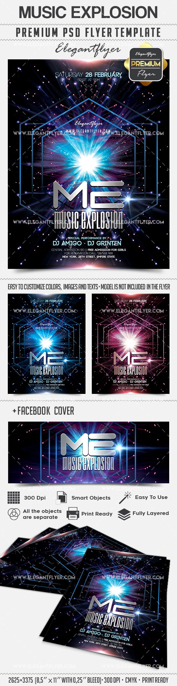 Music Explosion – Flyer PSD Template