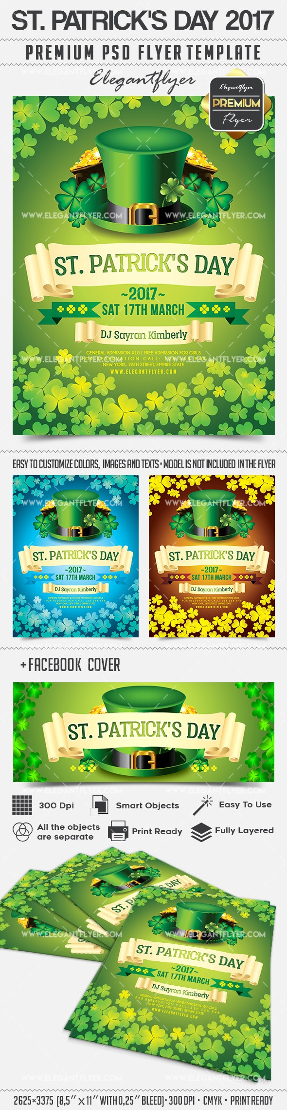 st  patrick u2019s day 2017  u2013 flyer psd template  u2013 by elegantflyer