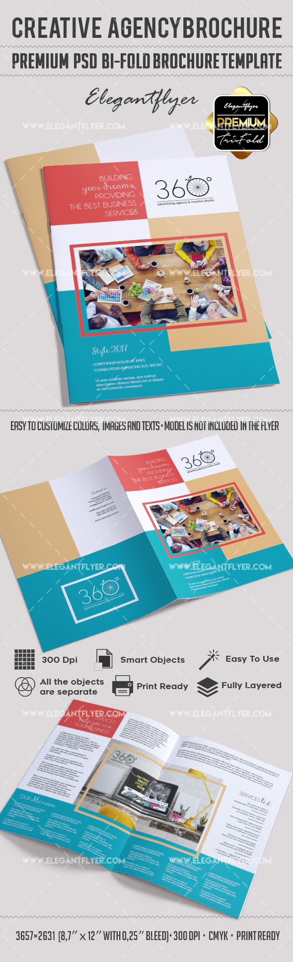 Bi-Fold Brochure for Creative Agency