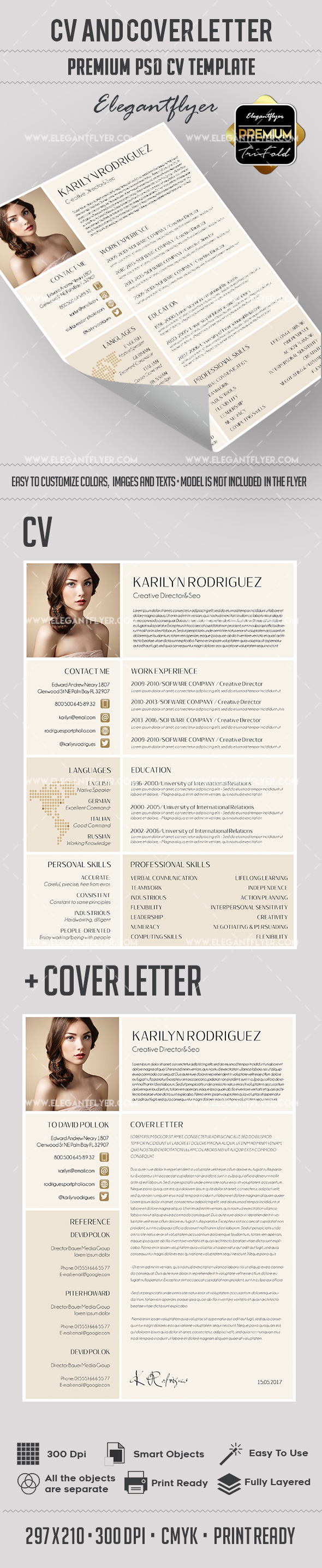 Great Premium Resume Template + CV and Cover