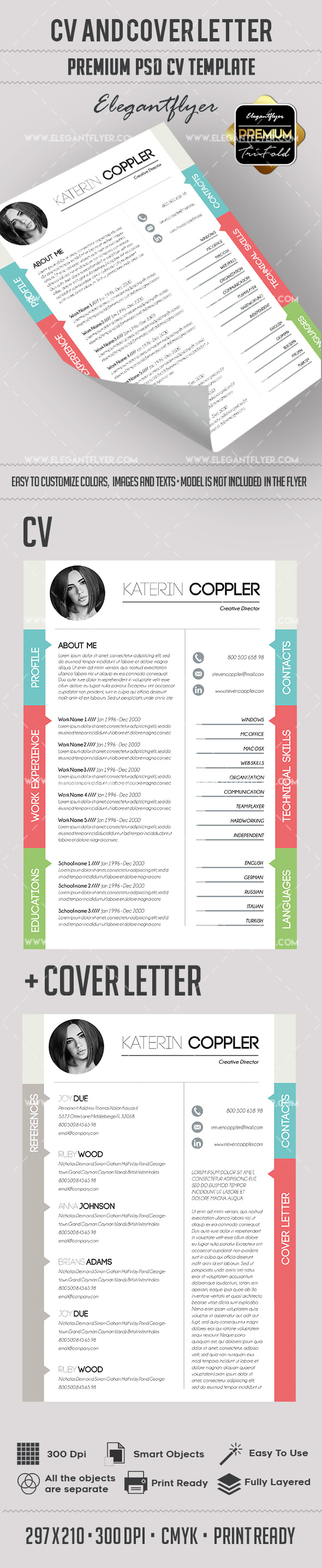 Quick Resume Template + CV and Cover Letter