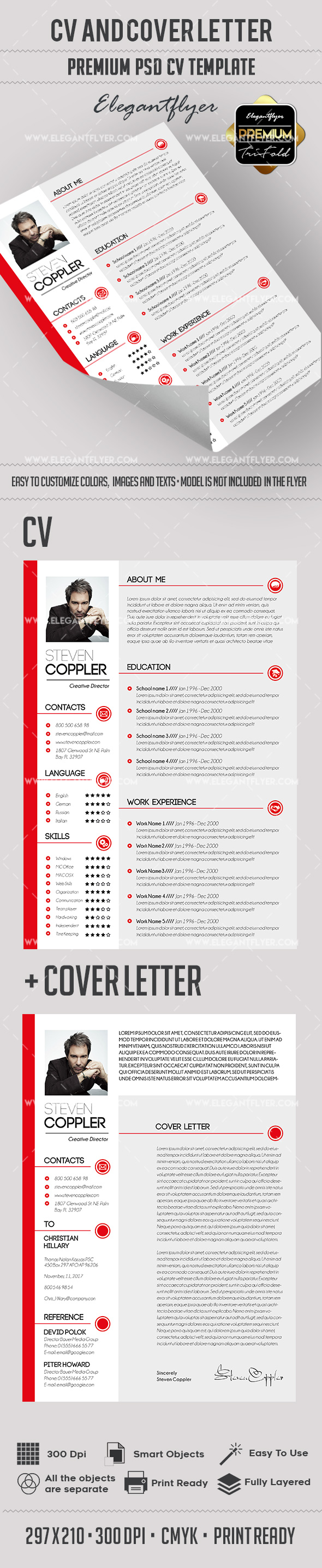 Finance Resume Template + CV and Cover Letter