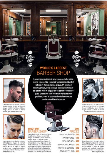 Barbershop – Flyer PSD Template + Facebook Cover