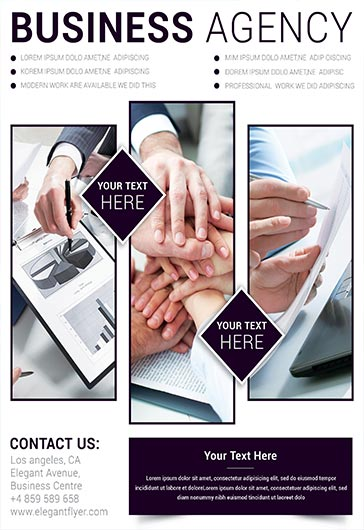 Business Agency – Business Flyer PSD Template