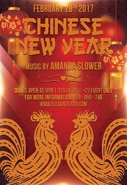 Chinese New Year – Flyer PSD Template + Facebook Cover