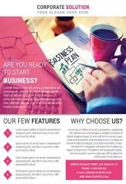 Corporate Flyer – Business Flyer PSD Template + Facebook Cover