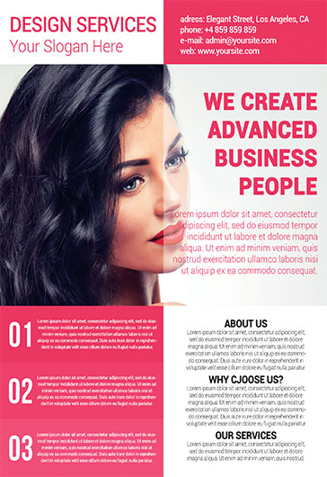 Design Services – Business Flyer PSD Template