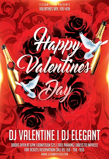 Happy Valentine Day – Flyer PSD Template