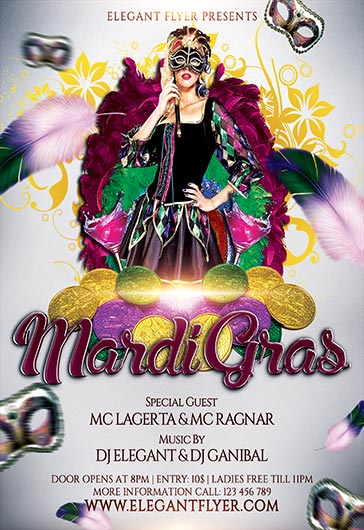Mardi Grass – Flyer PSD Template