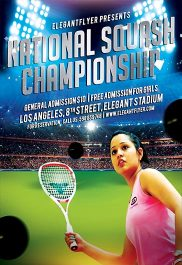 National Squash Championship – Flyer PSD Template + Facebook Cover