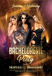 Bachelorette Party V02 – Flyer PSD Template + Facebook Cover