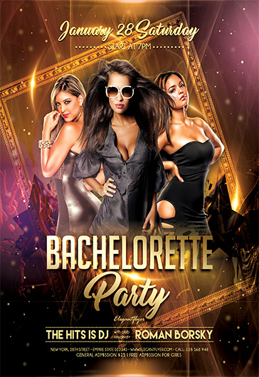 Bachelorette Party V02 – Flyer PSD Template