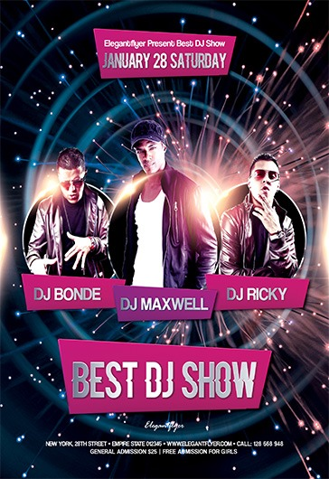 Best DJ Show – Free Flyer PSD Template