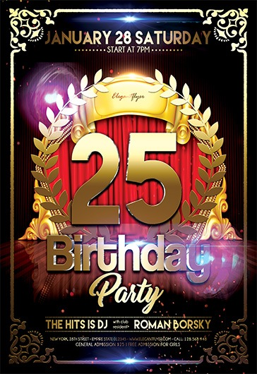 Birthday Party V02 Flyer PSD Template By ElegantFlyer
