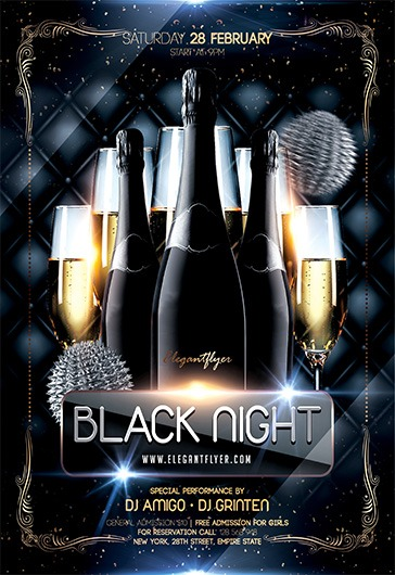 Luxury Champagne Night – Flyer PSD Template