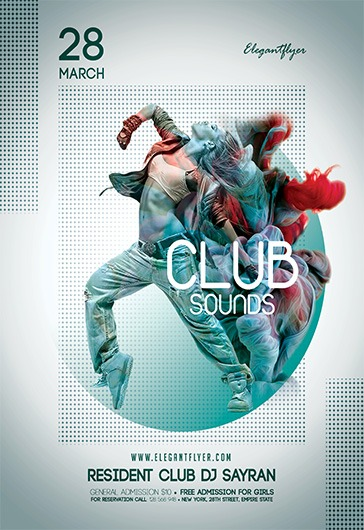 Club Sounds – Flyer PSD Template + Facebook Cover