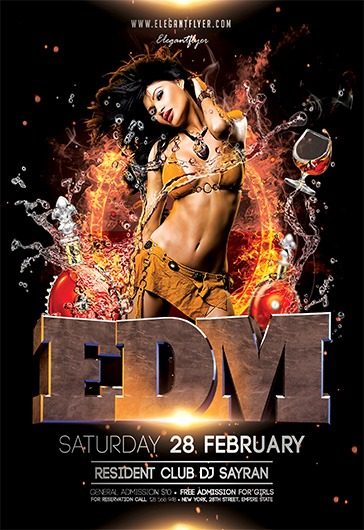 EDM – Flyer PSD Template