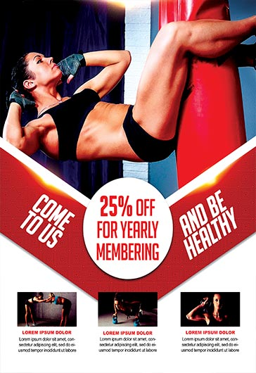 fitness classes  u2013 flyer psd template  u2013 by elegantflyer