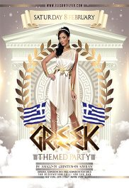 Greek Themed Party – Flyer PSD Template + Facebook Cover