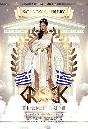 Greek Themed Party – Flyer PSD Template