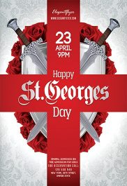 Happy St.Georges Day – Flyer PSD Template + Facebook Cover