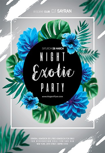 Night Exotic Party – Flyer PSD Template