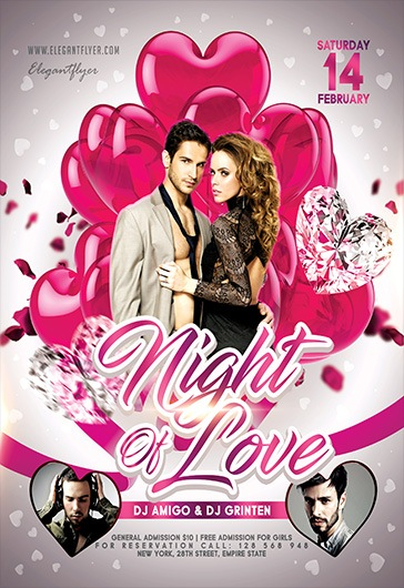 Night Of Love V02 – Flyer PSD Template