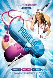 Panacea Party V02 – Flyer PSD Template + Facebook Cover