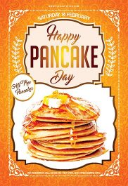 Pancake Day – Flyer PSD Template + Facebook Cover