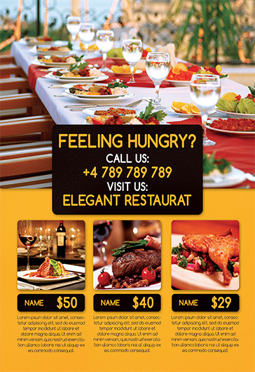template for restaurant reception  u2013 by elegantflyer