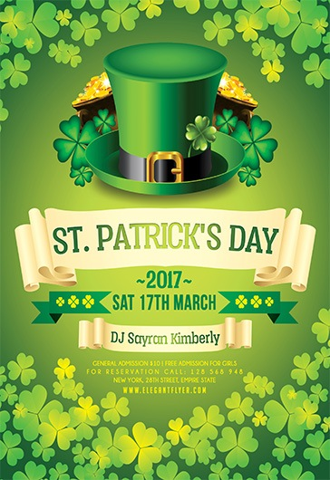 St. Patrick's Day 2017 – Flyer PSD Template