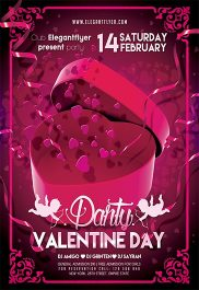 Valentine's day Party V03 – Flyer PSD Template + Facebook Cover