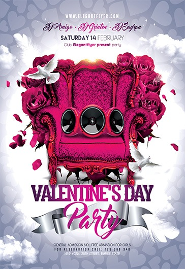 Valentine's Day Party – Flyer PSD Template